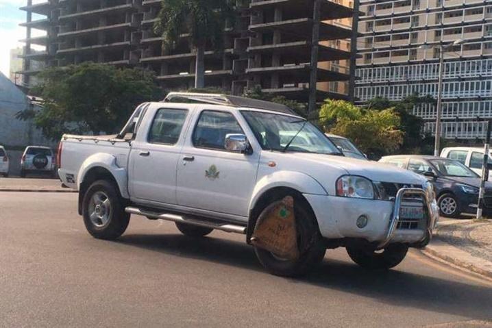 Hoje o infractor foi viatura do Município de Maputo