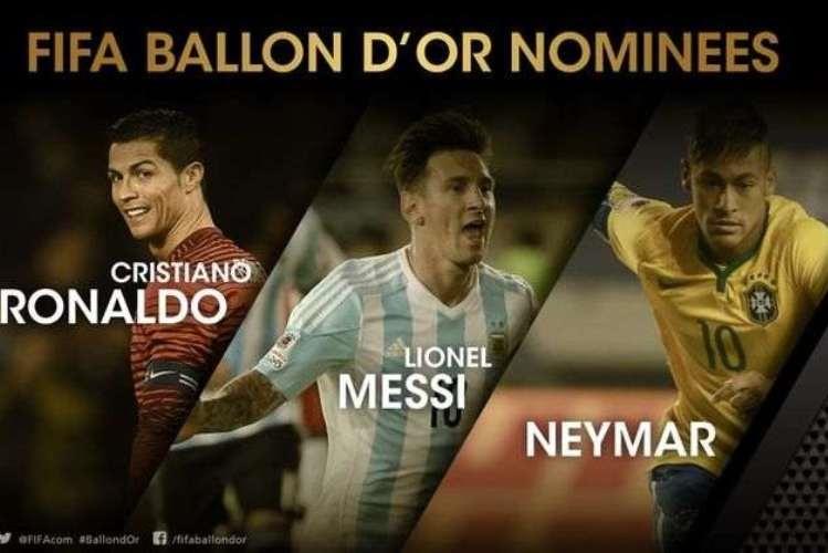 Já são conhecidos os finalistas da Bola de Ouro