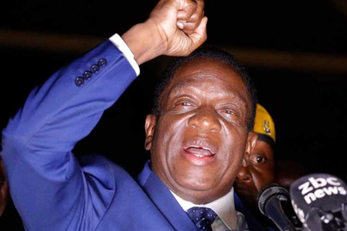 Mnangagwa tomou posse como presidente do Zimbabwe