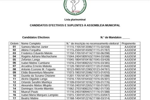 Samora Machel Júnior vai concorrer pela AJUDEM