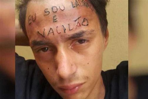 """Jovem com """"ladrão"""" tatuado na testa voltou a roubar"""