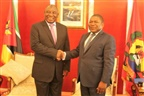Nyusi na investidura do presidente da África do Sul