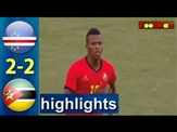 mozambique vs cape verde 2-2 all goals full highlights 2019/11/18