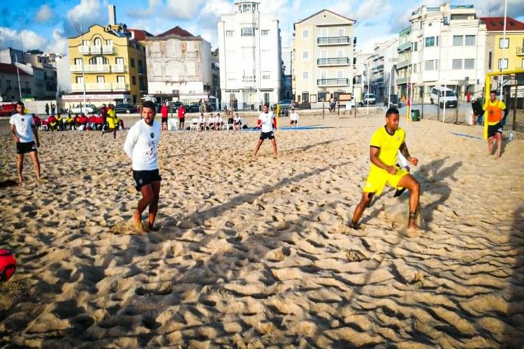Selecção de praia volta a empatar em jogo de treino