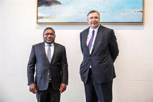 PR Nyusi recebe garantias de continuidade da TOTAL em Moçambique