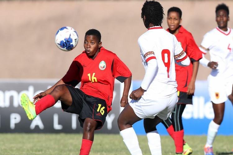Cosafa em femininos: Moçambique com boa exibição empata com Angola (2-2)